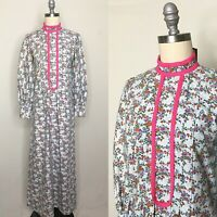 Vintage 70s Calico Kitschy House Dress Size Small