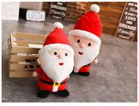 "15"" Christmas Santa Claus Stuffed Plush Doll Tree Ornament Decoration Toy X-Mas"