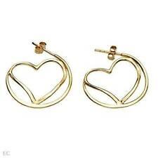 Heart Earrings 14K/925 Gold plated Silver - 1 inch