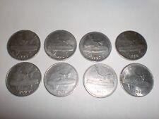 """- INDIA COINS -  8 X  """"50 PAISE""""  CIRCULATED  COINS - 1995 - 2002 # P/7R7/14"""