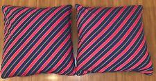 RALPH LAUREN 20x20 Throw Bed Accent Pillow Red Blue Zip Zipper