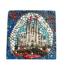 Spain Barcelona Sagrada 6cm Tourist Souvenir 3D Resin Mosaic Fridge Magnet