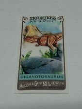 2010 Topps Allen And Ginters Monsters Of The Mesozoic Giganotosaurus Mm25