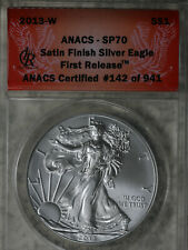 2013-W Satin Finish American Eagle First Release #142 of 941 - ANACS SP70!!