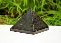 "Large 4"" Black Tourmaline Crystal Quartz Stone Chakra Healing Egypt Pyramid"