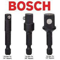 "BOSCH 1/4"" Hex Drive Impact Driver Socket Adaptor, Available In 1/4"",3/8"" & 1/2"""