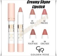 NEW Golden Rose Nude Look Creamy Shine Lipstick Hydrates the Lips FREE DELIVERY