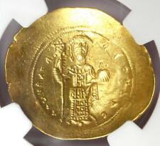 Constantine X AV Gold Histamenon Nomisma Christ Coin (1059-67 AD) - NGC AU