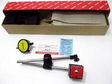 Starrett 657ME Magnetic Base Holder Set with 25-181J Metric Dial Indicator 56357