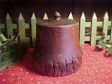 Primiitive Antique Wooden Treenware Treen Jar with Acorn Finial aafa
