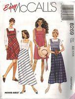 8269 UNCUT Vintage McCalls Pattern Misses Semi Fitted Jumper Sundress 2 Lengths