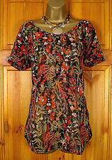 Monsoon Hips Short Sleeve Floral Tops & Shirts for Women