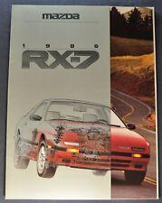 1986 Mazda RX-7 Catalog Sales Brochure Excellent Original 86