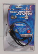 MONSTER CABLE CAMCORDER TO DVD RECORDER J2 CANDVDR DV-6 1 PC FIREWALL 125968 NEW