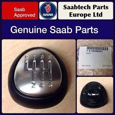 GENUINE Saab 9-3 leather Gear Knob Emblem Top 6 speed - 55566207 New