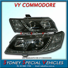 VY COMMODORE DRL HEADLIGHTS FOR EXECUTIVE SS S PACK PAIR OF - PROJECTOR LED