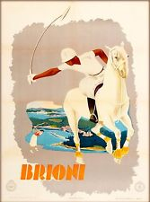 Brioni Italy Vintage European Travel Advertisement Poster Picture Print