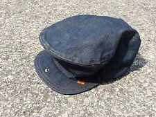 Vintage Levi's Denim Hat Newsboy LEVIS Orange Tab