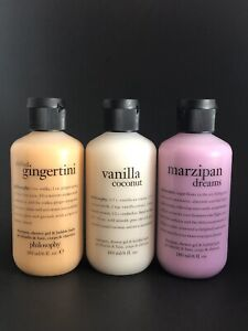 Philosophy Marzipan Dream, Chilled Gingertini & Vanilla Coconut 3-in-1 6 oz New