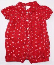 Gymboree Baby Girl 0-3 Mo Bubble Jumper Outfit Americana Bandana Red Summer