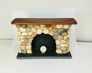 Vintage SIGNED Sir Tom Thumb Stone Fireplace Dollhouse Miniature 1:12 Colonial