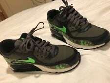 43598f885035 Nike Air Max 90 US 4Y army green with lime green and camoflague gently used