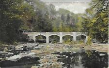 Pipe Line from Lake Hamilton Yellow Creek Ohio OH Vintage Postcard Used in 1910