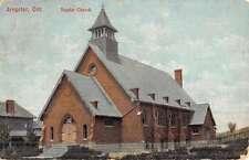 Arnprior Ontario Baptist Church Street View Antique Postcard K45701