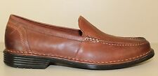 RockPort Mens Shoe Size 9 W ADIPRENE Brown Leather Slip On Moc Toe Loaffers