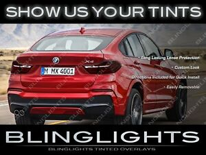 Murdered Out Tail Light Film Overlays Smoked Lamp Lens Covers for BMW X4