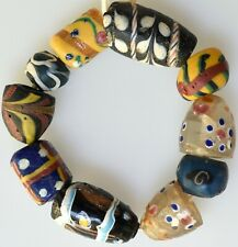 10 Mixed Old Venetian Glass Beads - African Trade Beads