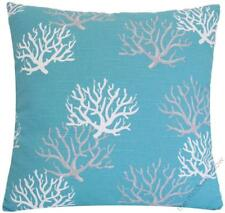 Aqua Coral Decorative Throw Pillow Cover / Cushion Cover 20x20""