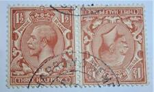 1924 11/2 red brown TETE-BECHE pair VF used Sg420A