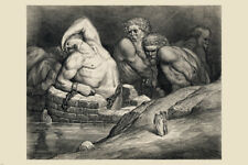 DANTE'S INFERNO BY DANTE ALIGHIERI SKETCH POSTER man in chains water 24x36