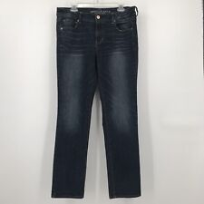 """American Eagle Jeans size 14 skinny super stretch actual 35"""" x 30"""" mid rise blue"""