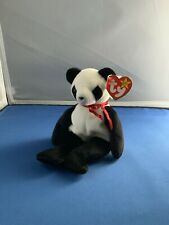 TY Beanie Babies Fortune Panda Bear Retired With Tag Errors
