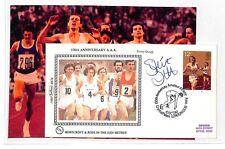 HH125 1980 OLYMPICS GB Benham Silk Signed Cover *Steve Ovett* 5000m RUNNING PTS