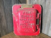 Vintage Edwards 1872 Fire Alarm Cast Fire Alarm Box H9