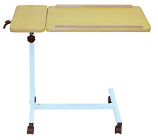 Deluxe Multi Purpose Overbed Wheeled Table - Tilting Table & Smaller Side Table