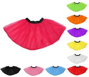 New Neon UV Flo Tutu Skirt Hen Fancy Dress Party 3 Layers of Net Plus Colours UK