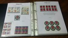 More details for collection  american  usa of xmas 2006-2015  stamps literature mnh fv $212