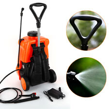 16L 12V Electric Weed Sprayer Backpack Tank Trolley Garden Portable Spray GREAT