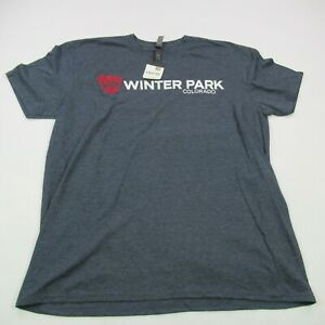 Winter Park Colorado tShirt Men's XL Short Sleeve Gray New Tags Ski Casual