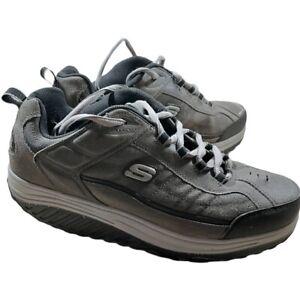 Skechers Shape Ups Toning Walking Shoes Men's Size 11.5 Gray Black