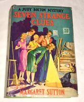 Seven Strange Clues Margaret Sutton Judy Bolton #4 1942 Coudersport Pennslyvania