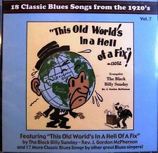 CD: 18 Classic Blues Songs From the 1920's Vol 7 Patton, Townsend, Wilkins, Cox