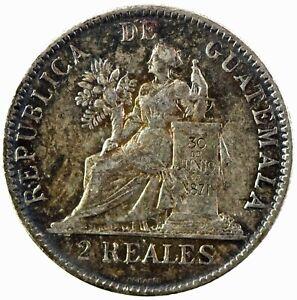 Guatemala: Republic 1898 Silver 2 Reales, EF  KM# 167