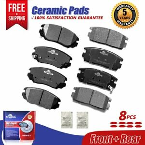 2013 2014 2015 2016 Fit GMC Terrain Front /& Rear Ceramic Brake Pads