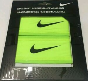 NEW SEALED Nike Speed Performance Armband  Unisex Volt Yellow and Black  1 Pair