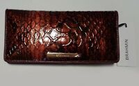 Brahmin Cranberry Valerian Ady Leather Wallet NWT $225